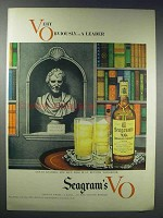 1948 Seagram's V.O. Canadian Whisky Ad - Very Obviously