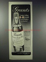 1948 Grant's Scotch Ad - Largest-Selling