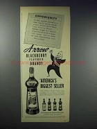 1948 Arrow Blackberry Flavored Brandy Ad - Opportunity