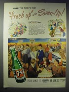 1948 7up Soda Ad - Wherever There's Fun