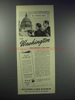 1948 Baltimore & Ohio Railroad Ad - Visit Washington