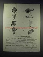 1948 U.S. Savings Bonds Ad - Match People And Horns