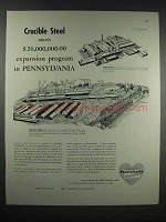1948 Pennsylvania Dept. of Commerce Ad - Cruicble Steel