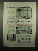 1954 Republic Steel Truscon Windows Ad - Get Quality