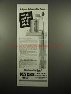 1954 Myers Submersible Pump Ad - Out of Sight