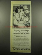 1954 Bayer Aspirin Ad - Gentle as Mother's Kiss