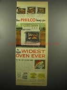 1954 Philco Electric Range 449 Ad - Widest Oven Ever