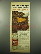 1954 Karo Syrup Ad - Butter Cream Frosting