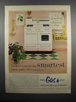 1954 American Gas Association Ad - Dixie Gas Range