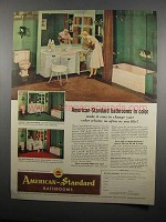 1954 American-Standard Bathroom Fixtures Ad - In Color
