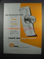 1954 Kwikset 400 Line Lockset Ad - Money You Save