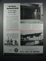 1954 United States Steel Windows Ad - More Rugged