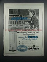 1954 A.O. Smith Permaglas Water Heater Ad - Acceptance