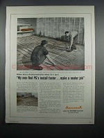 1954 Anaconda Copper Grids for Radiant Panel Heating Ad