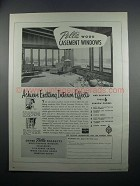 1954 Pella Wood Casement Windows Ad - Exciting Effects