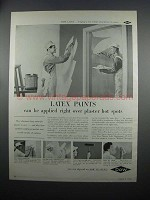1954 Dow Latex Paint Ad - Over Plaster Hot Spots