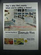 1954 Congoleum-Nairn Gold Seal VinylTile Ad - Counts