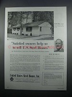 1954 United States Steel Homes Ad - Satisfied Owners
