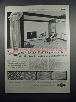 1954 Dow Latex Paint Ad - Protective Film