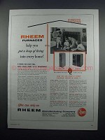 1954 Rheem Furnace Ad - Model 3202 and 3402