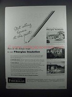1954 Owens-Corning Fiberglas Insulation Ad - This Point