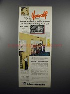 1953 Johns-Manville Ceiling Panels and Wall Plank Ad