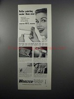 1953 Wooster Paint Rollers Ad - Easier Than Ever