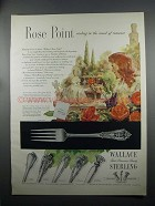 1953 Wallace Rose Point Sterling Silverware Ad