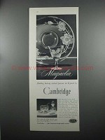 1953 Cambridge Magnolia Crystal Ad - Plate, Goblet