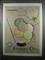 1953 Franciscan China Enanto Nuevo Place Setting Ad