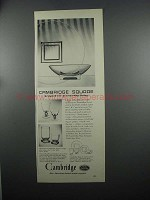 1953 Cambridge Square Crystal Ad - Present-Day Living