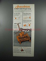 1953 Jacobsen Manor Mower and Model 18 Rotary Mower Ad