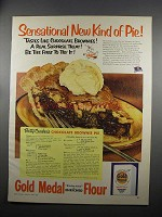 1953 Gold Medal Flour Ad - Chocolate Brownie Pie Recipe