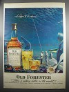 1952 Old Forester Bourbon Ad - Happy to be Aboard