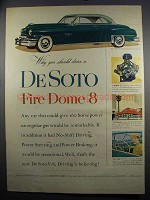 1952 DeSoto Fire Dome 8 Ad - Why You Should Drive