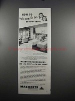 1951 Masonite Hardboards Ad - Make Room for Two