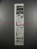 1951 Williams Oil-O-Matic Heating Ad - 2 Coupons