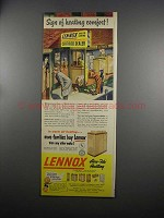 1951 Lennox Heating Ad - Sign Of Heating Comfort