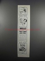 1951 Brillo Soap Pads Ad - Slave to Scorchy Pans?