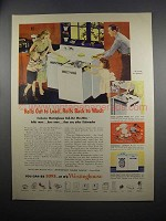 1951 Westinghouse Roll-Out WashWell Dishwasher Ad