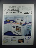 1950 American Gas Association Ad - CP Gas Range