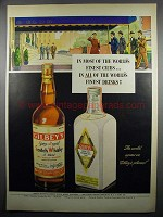 1950 Gilbey's Spey-Royal Scotch & London Dry Gin Ad