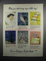 1950 Cannon Combspun Percale Sheets Ad - Lulla-Buy