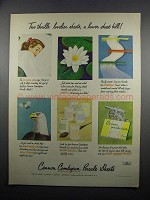1950 Cannon Combspun Percale Sheets Ad - Two Thrills