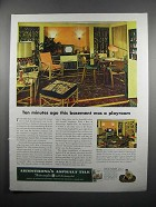 1950 Armstrong's Asphalt Tile Ad - Was a Playroom
