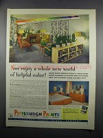 1949 Pittsburgh Paints Ad - World of Helpful Color