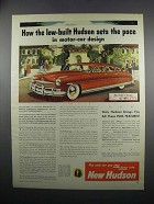 1949 Hudson Car Ad - Sets the Pace