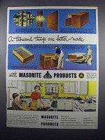 1949 Masonite Products Ad - Thousand Things Better