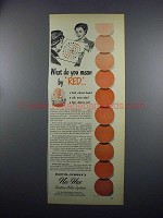 1949 Martin-Senour Nu-Hue Custom Color System Paint Ad