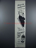 1948 Sunsweet Prune Juice Ad - Big Breakfast Smile